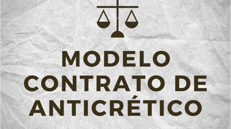 modelo de contrato de anticretico Bolivia 2020