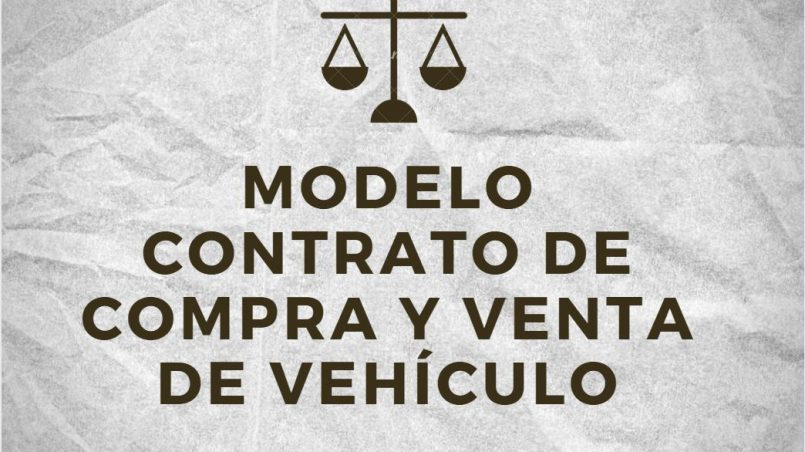 modelo de contrato de compra y venta de vehiculo