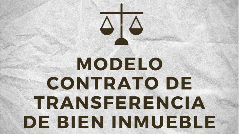 modelo de contrato de compra y venta de bien inmueble