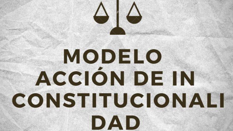 Modelo de Accion de Inconstitucionalidad