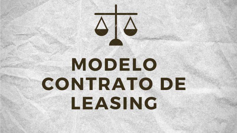 modelo de contrato de leasing