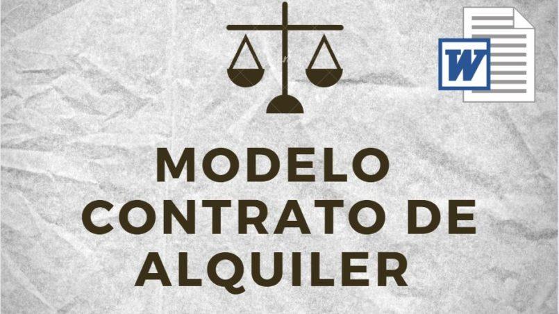 Modelo Contrato de Alquiler Bolivia