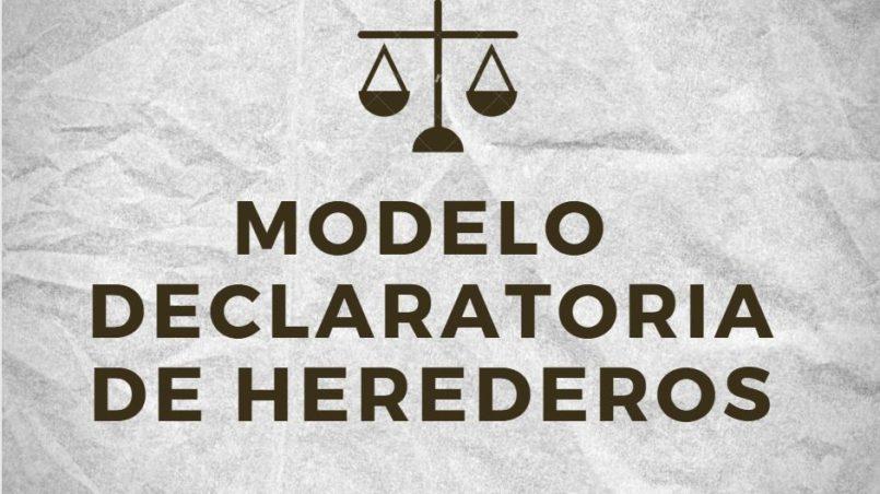 Modelo Declaratoria de Herederos Bolivia