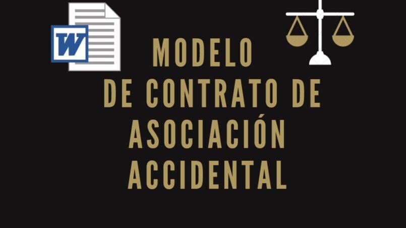 Modelo de Contrato de Asociacion Accidental
