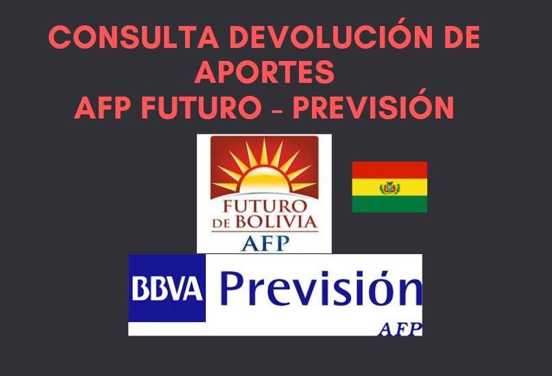 consulta devolución de aportes afp futuro y previsión Bolivia