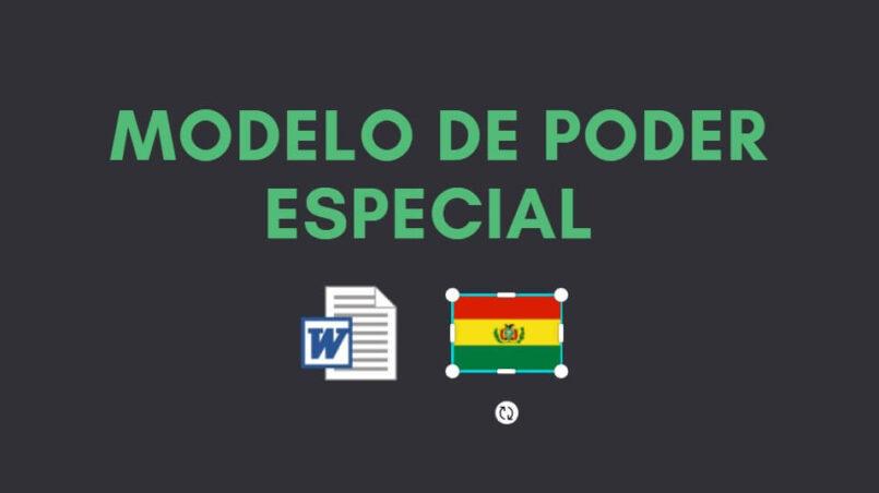 descargar modelo de poder especial Bolivia