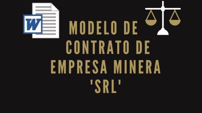 modelo de contrato de empresa minera srl