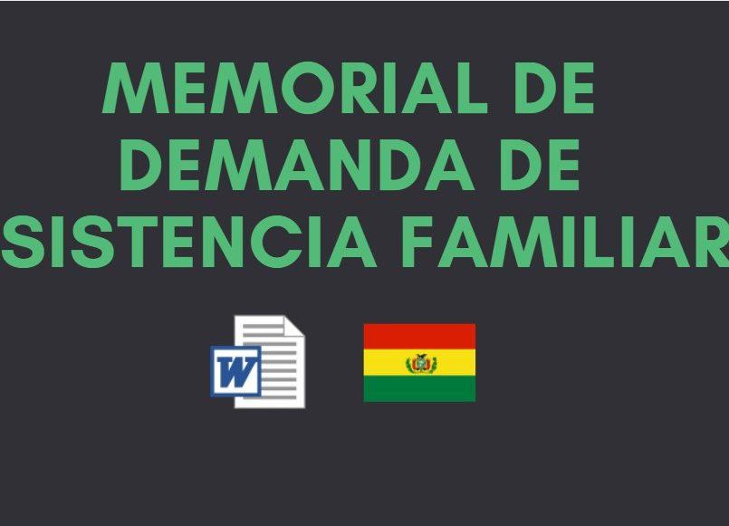 demanda de asistencia familiar bolivia actualizado