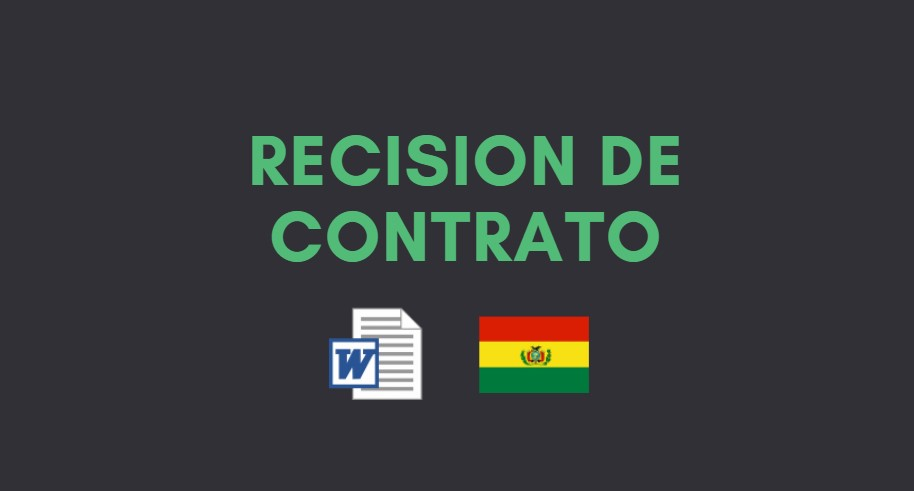 modelo de recision de contrato bolivia