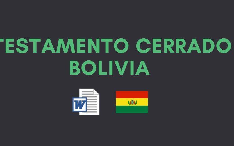 testamento cerrado bolivia